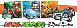 Mega Moolah 5 Reel Drive - New Microgaming Progressive Slot