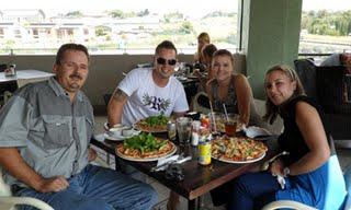 Topboss Team Enjoying a well deserved lunch